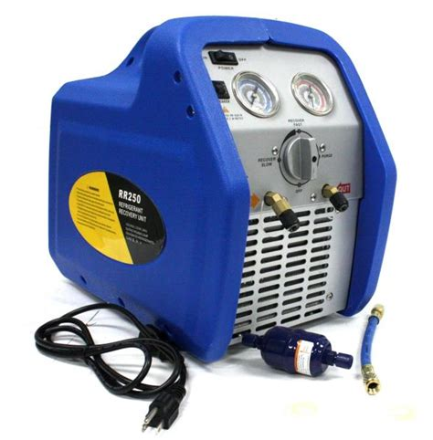 Ac Portable Freon rr250 portable ac refrigerant recovery machine 3 4hp 4 r410a r134a r12 r22 hvac ebay