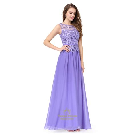 Chiffon Lace Dress amethyst lace top chiffon bottom sleeveless illusion