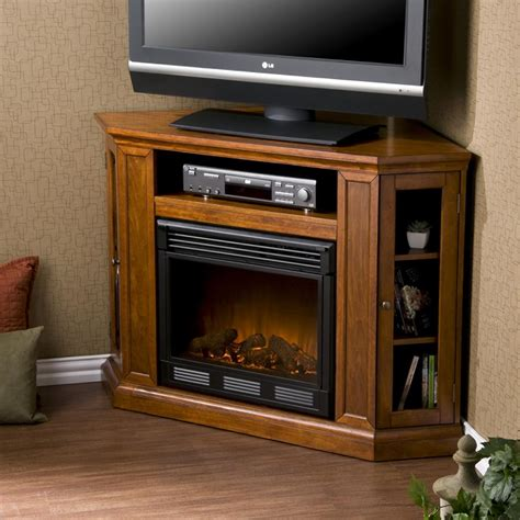 corner fireplace tv stand sei claremont media console with electric