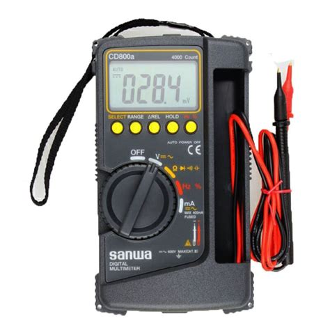 Multimeter Digital Sanwa Pc510 sanwa digital multimeter cd800a dmm 4000 volt counter