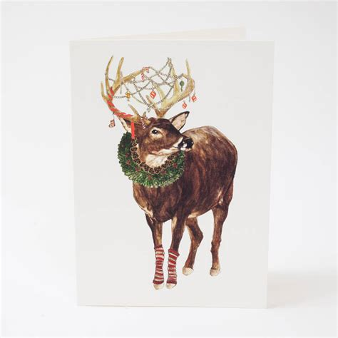 merry christmas my deer christmas card by mister peebles