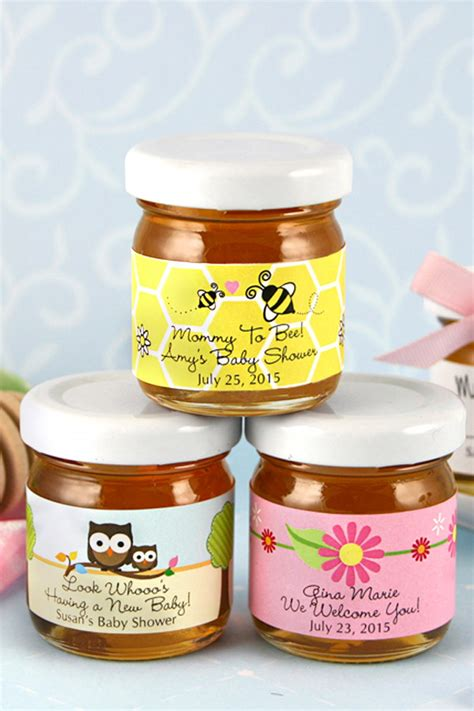 Baby Shower Favors Honey Jars personalized baby shower honey jar favors
