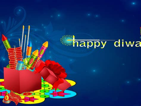 happy diwali colorful crackers blue background desktop hd wallpaper  mobile phones tablet