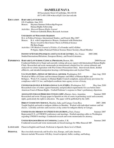 Harvard Resume by Harvard Style Resume Resume Ideas