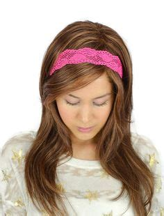 hairstyles with stretchy headbands light pink lace headband pink stretch headband women by