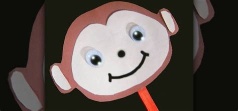 How To Make A Paper Monkey - how to make a simple paper monkey stick puppet with your