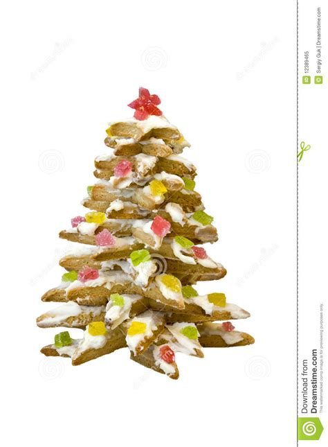 biscuits in the form of christmas tree stock image