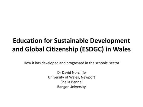 themes of education for sustainable development ppt education for sustainable development and global