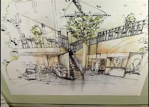 interior perspective rendering with markers architecture drawing tutorial arch student