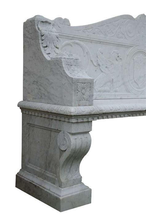 marble garden bench italian renaissance style white marble garden bench 19th