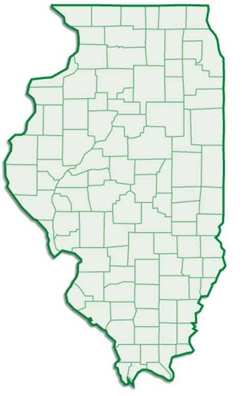 county map  illinois