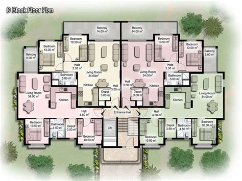 Floor Plans For Apartment Buildings | luxury apartment floor plans apartment building design