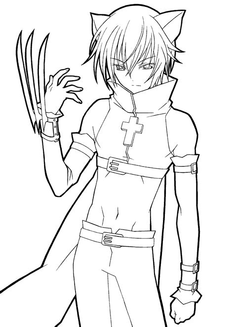 anime guy coloring pages vitlt com free printable anime coloring pages coloring home