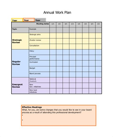 sle work plan templates sle work plan 7 documents in word pdf