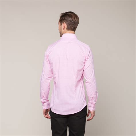 Pink Fit L button slim fit shirt pink l clearance sale touch of modern