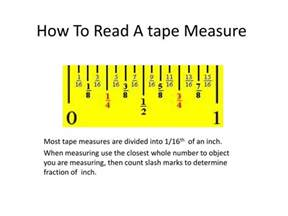 the gallery for gt how to read measuring tape