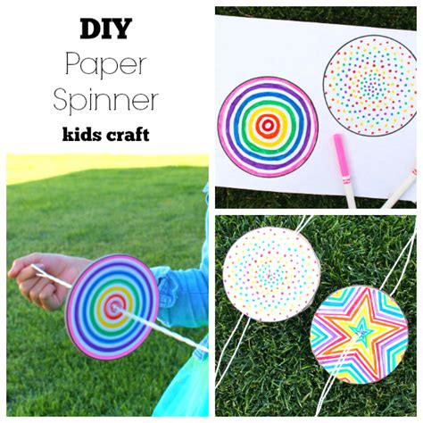 How To Make Paper Spinners - diy paper spinner for endless make and takes