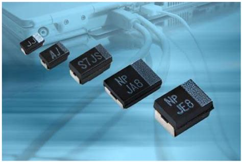 tantalum capacitor ripple current rating vishay extended t55 series of polymer tantalum chip capacitors