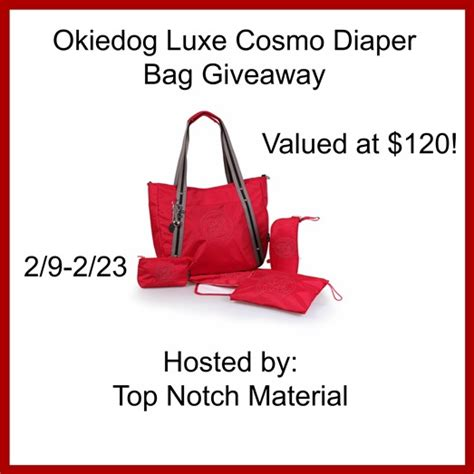 Diaper Bag Giveaway - okiedog luxe cosmo diaper bag giveaway 120 value