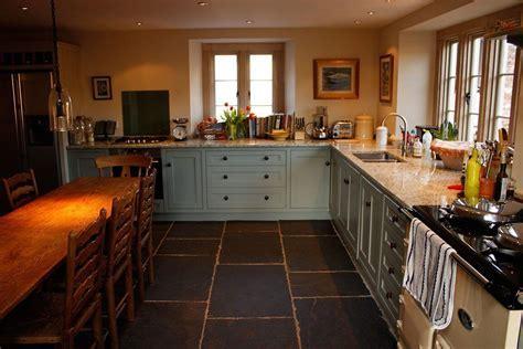 Country Cottage Kitchen Design White Solid Slab Granite