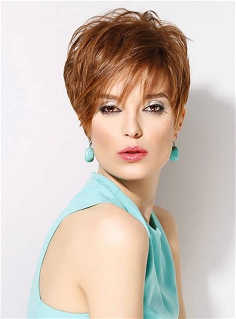 itip extensions in pixie synthetic curls ladies short cut wig natural hair lace