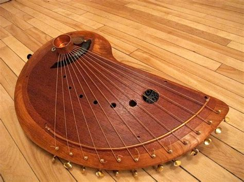 Handmade Musical Instrument - handmade wooden musical string instrument harp by