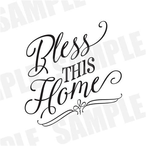 svg commercial personal use bless this home bible silhouette