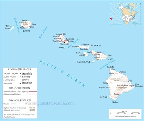map of hawaii detailed map of hawaiian islands