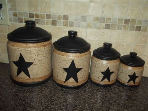 primitive kitchen canister sets 13 best images about primitive canister sets on