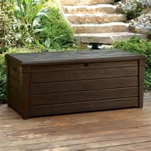 Outdoor Storage Bench Waterproof Keter Saxon Brightwood Xl Size 454l Waterproof Lockabl Garden Storage Bench Box Ebay