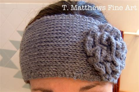 knitting pattern for headbands with flower free knit headband pattern with flower crochet and knit