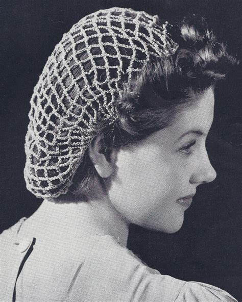 Pattern For Snood Hair Net | mrs button s vintage corner in the mood for a snood