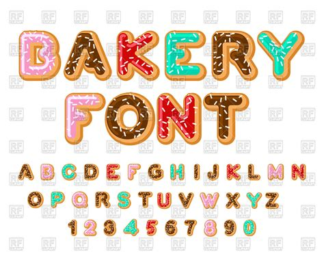 free royalty free clipart bakery font royalty free vector clip image 137279