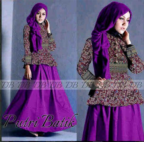 Gamis Longdress Terusan Panjang Muslim Umbrella Dress gaun batik modern putri p887