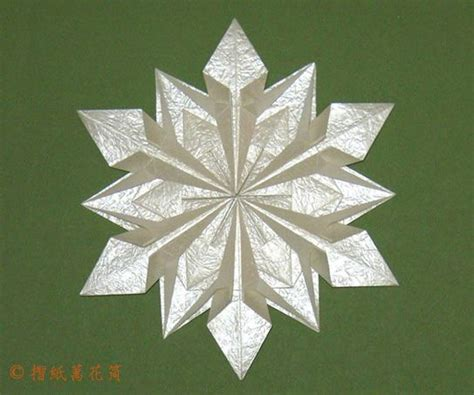 Origami Snowflake Pattern - origami snowflake origami and paper folding