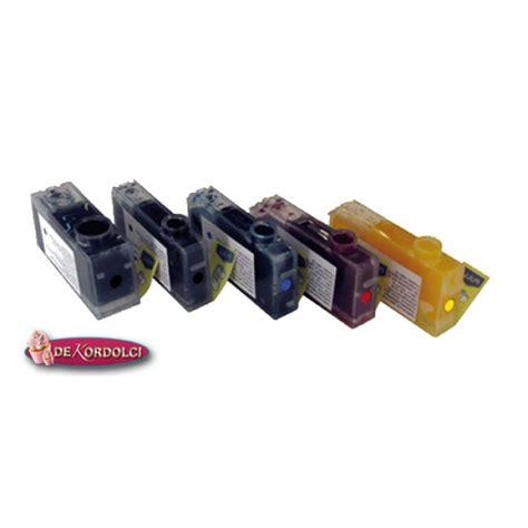 inchiostro alimentare kit 5 cartucce inchiostro alimentare ricaricabili per