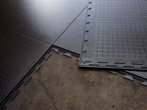 Tuff Seal photos: Interlocking vinyl floor tile