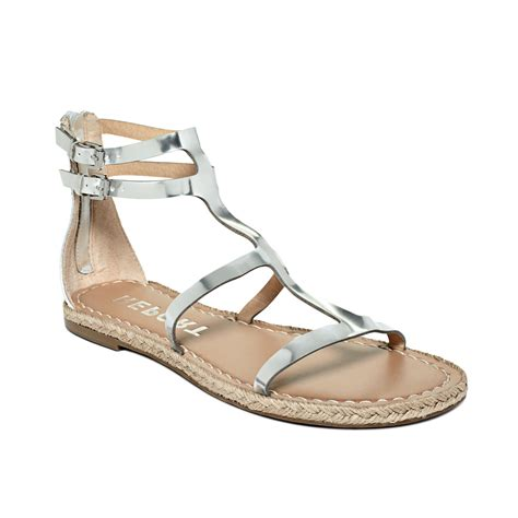 sandals at report mazur flat sandals in silver lyst