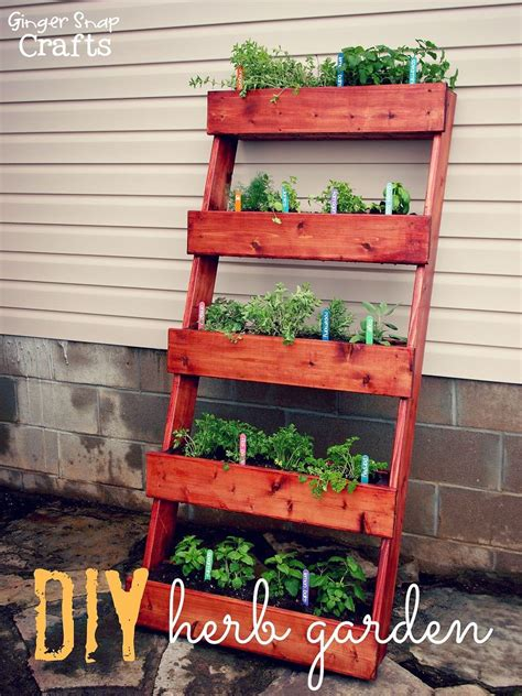 Diy Vertical Herb Garden Diy Vertical Gardens Gingersnapcrafts S