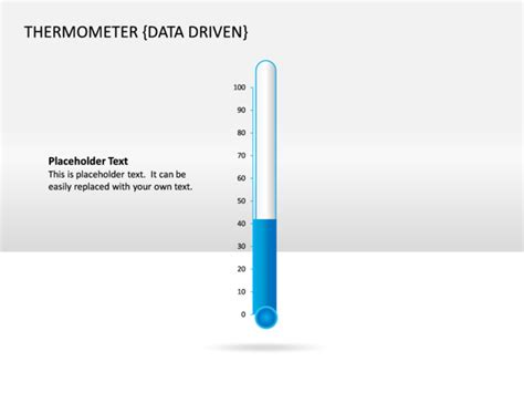 Powerpoint Slide Thermometer Chart 3d Blue Data Thermometer For Powerpoint