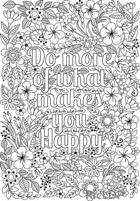 design for adults printable do more of what makes you happy flower design