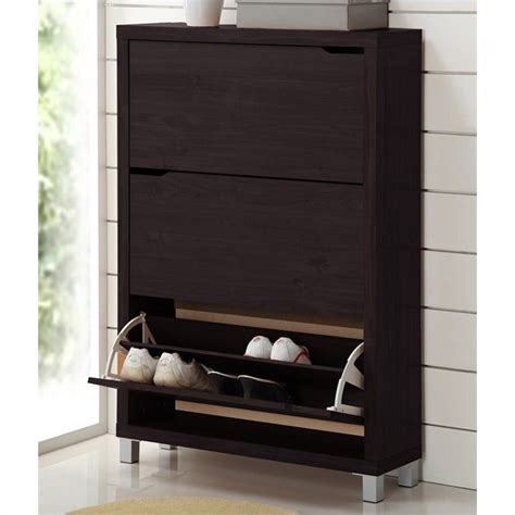 simms dark brown modern shoe cabinet simms modern shoe cabinet in dark brown fp 3oush cappucino