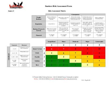 risk assessment template residential smokers risk assessment form v 1 0 docx docx