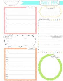 Cute Planner Templates 9 Best Images Of Cute Daily Planner Page Free Printable