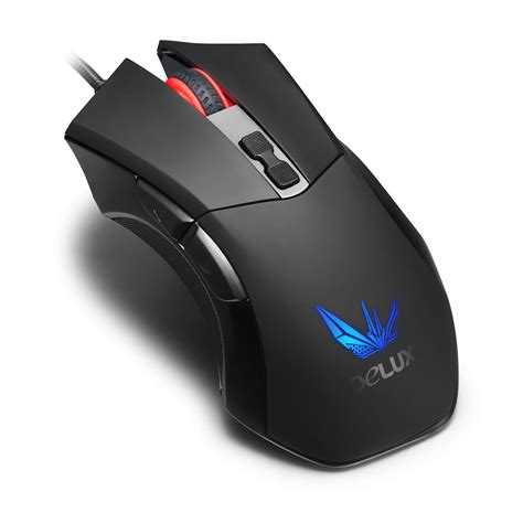 Mouse Wireless Deluxe delux m555 programmable wired usb optical gaming mouse 2400 dpi omron micro switches sale