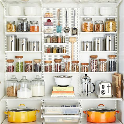 elfa regalsystem white elfa utility reach in pantry the container store