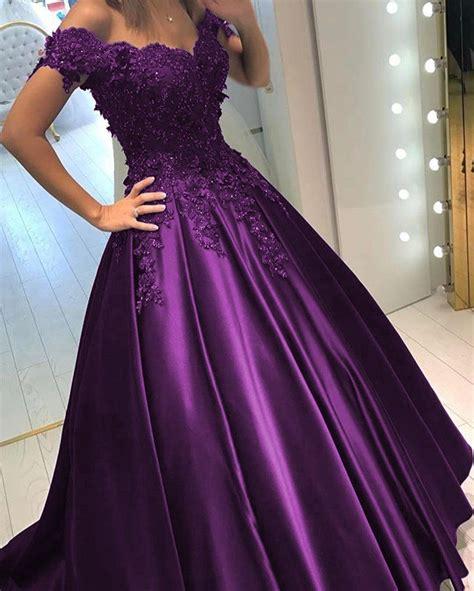 Shoulder Lace Evening Gown lace flower the shoulder satin prom dresses gowns