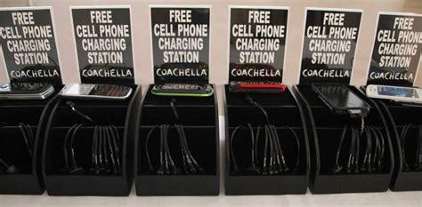 coachella phone charging stations chargetech