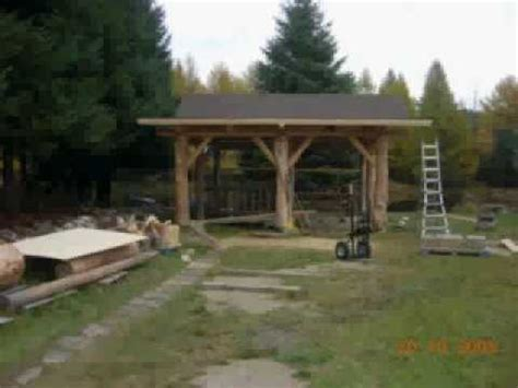 Shed With Porch Plans how to build a log gazebo youtube