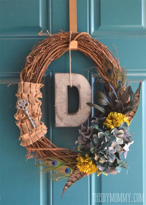 Handmade Door Wreaths - diy vintage inspired feathered fall wreath 6 more
